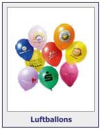 Luftballons mit Werbeaufdruck