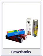 Powerbanks in verschiedenen Ausführungen